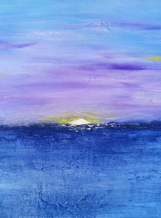 Sunrise at Mediterranean Sea - Galleria d'Arte Online con Artisti ed Opere Reali Expositio