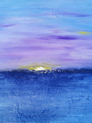 Sunrise at Mediterranean sea Pittura - Expositio Galleria Arte Online con Artisti Ed Opere Reali