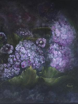 Fiori dal buio Pittura - Expositio Galleria Arte Online con Artisti Ed Opere Reali