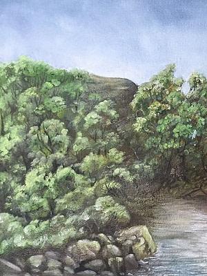 Paesaggio improvvisato Pittura - Expositio Galleria Arte Online con Artisti Ed Opere Reali