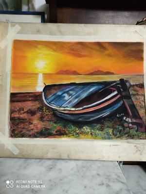 tramonto al Tono Pittura - Expositio Galleria Arte Online con Artisti Ed Opere Reali