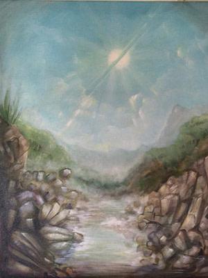 Il sole fratto Pittura - Expositio Galleria Arte Online con Artisti Ed Opere Reali