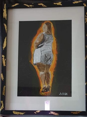 Donna in carne Pittura - Expositio Galleria Arte Online con Artisti Ed Opere Reali