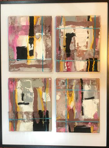 Abstract pink Pittura - Expositio Galleria Arte Online con Artisti Ed Opere Reali