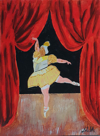 La ballerina Pittura - Expositio Galleria Arte Online con Artisti Ed Opere Reali