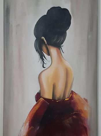 Vestito rosso 1 Pittura - Expositio Galleria Arte Online con Artisti Ed Opere Reali