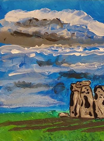 Stonehenge Pittura - Expositio Galleria Arte Online con Artisti Ed Opere Reali