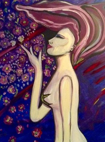 Blossom girl Pittura - Expositio Galleria Arte Online con Artisti Ed Opere Reali
