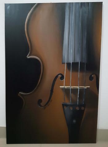 Il violino Pittura - Expositio Galleria Arte Online con Artisti Ed Opere Reali