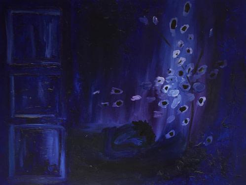 Kiss me blue Pittura - Expositio Galleria Arte Online con Artisti Ed Opere Reali