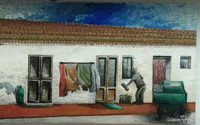 Il borgo antico Pittura - Expositio Galleria Arte Online con Artisti Ed Opere Reali