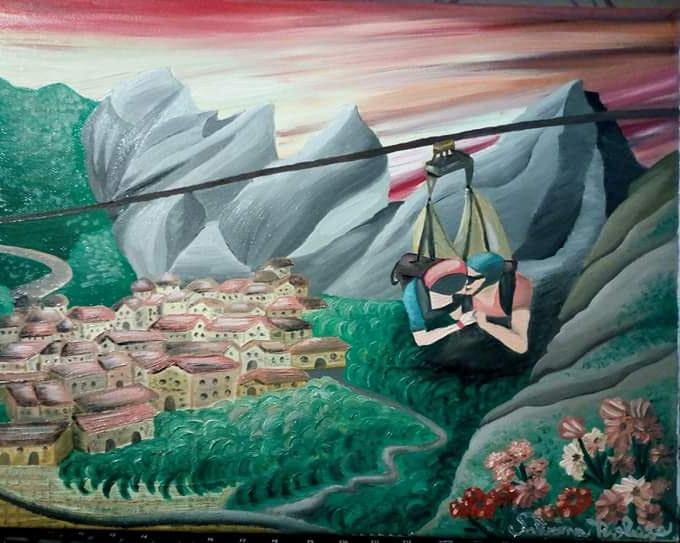 Il volo dell'Angelo Pittura - Expositio Galleria Arte Online con Artisti Ed Opere Reali