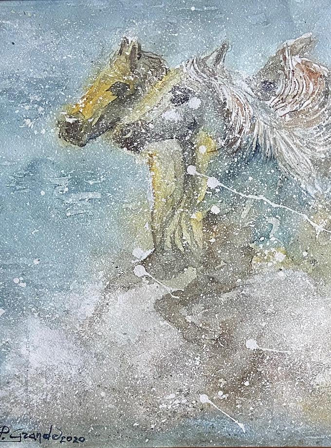 VOGLIA DI LIBERTA' Pittura - Expositio Galleria Arte Online con Artisti Ed Opere Reali