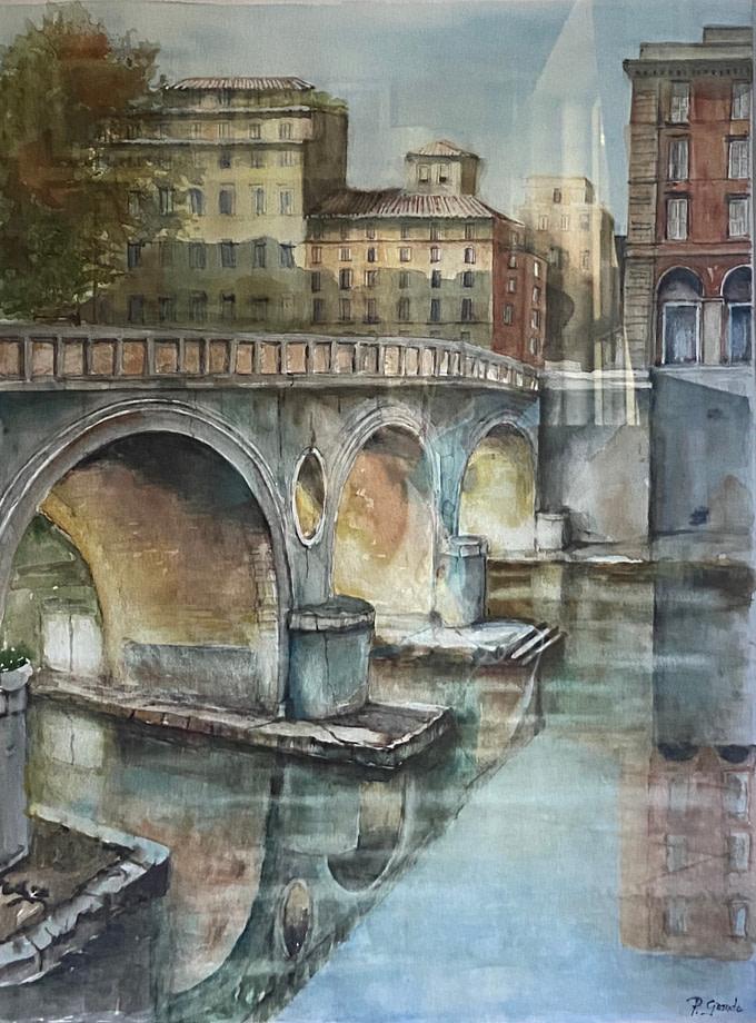 PONTE SISTO Pittura - Expositio Galleria Arte Online con Artisti Ed Opere Reali
