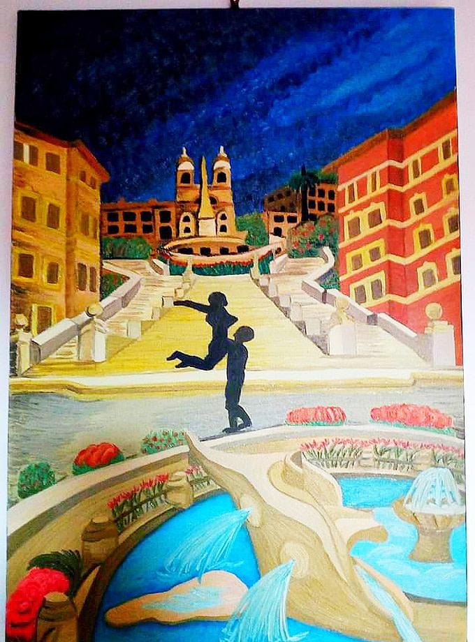 Piazza di Spagna Pittura - Expositio Galleria Arte Online con Artisti Ed Opere Reali