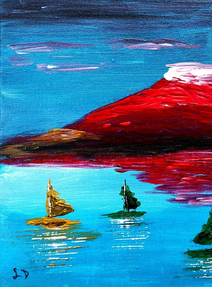 Etna controverso Pittura - Expositio Galleria Arte Online con Artisti Ed Opere Reali
