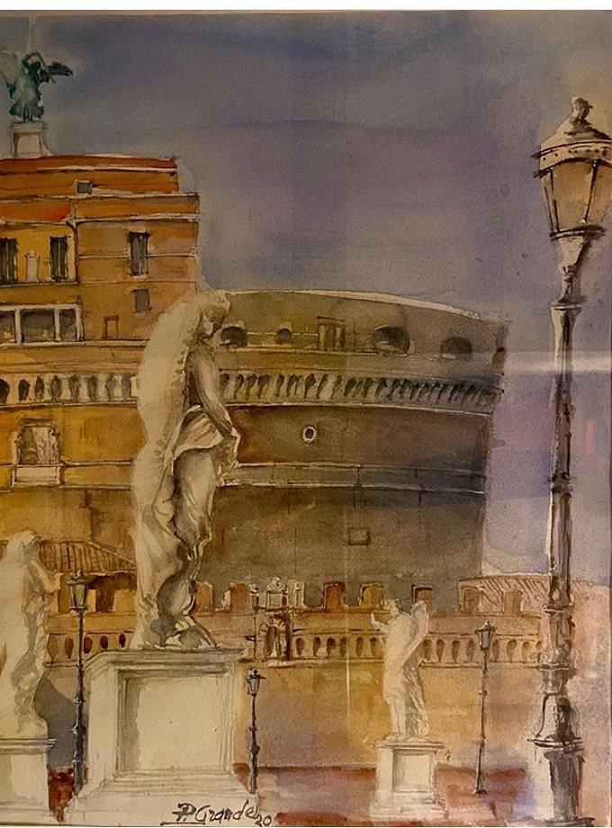CASTEL SANT'ANGELO Pittura - Expositio Galleria Arte Online con Artisti Ed Opere Reali