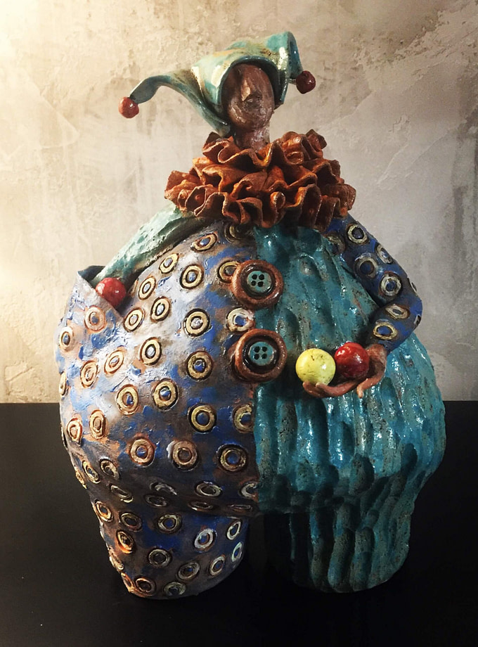 Pagliaccio Scultura - Expositio Galleria Arte Online con Artisti Ed Opere Reali