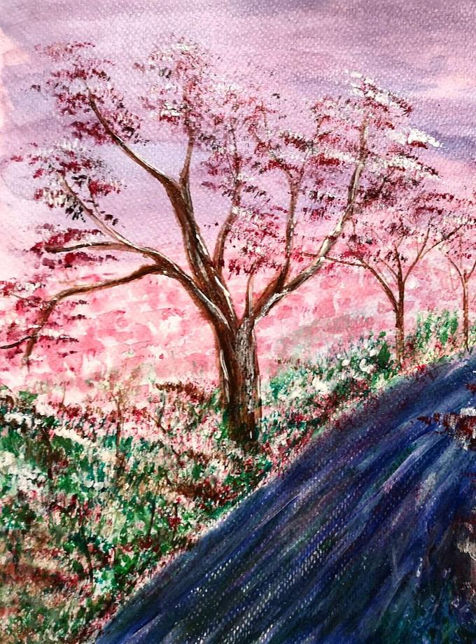 Spring in Japan Pittura - Expositio Galleria Arte Online con Artisti Ed Opere Reali