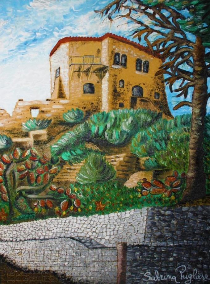 Il castello di Valsinni Pittura - Expositio Galleria Arte Online con Artisti Ed Opere Reali